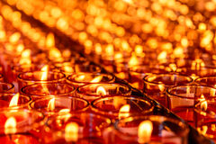 Candle Light. In a glasses Stock Images
