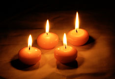 Candle Light. The Romantic Candle Light on the Darkness Royalty Free Stock Photos
