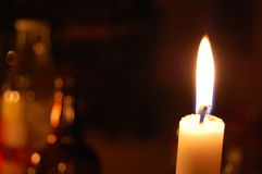 Candle light abstract background Stock Photo