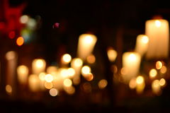 Candle light bokeh abstract light background Stock Images
