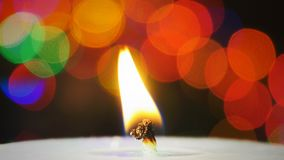 Candle light and bokeh. And beautiful background stock footage