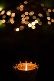 candle light with bokeh, hope concept Stock Photo