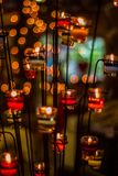 Candle light. Light and Bokeh of candle pod Royalty Free Stock Photos
