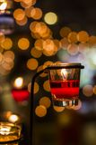 Candle light. Light and Bokeh of candle pod Royalty Free Stock Photography