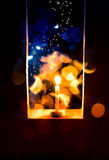 Candle light in Christmas. Blur and soft focus of Candle light with bokeh light in Christmas Stock Photography