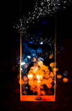 Candle light in Christmas. Blur and soft focus of Candle light with bokeh light in Christmas Stock Image