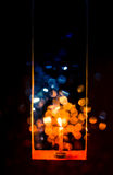 Candle light in Christmas. Blur and soft focus of Candle light with bokeh light in Christmas Royalty Free Stock Photo