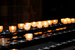 Candle light in a church Royalty Free Stock Photo