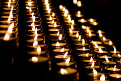 Candle light in a church Royalty Free Stock Images