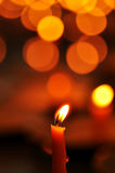 Candle Light. Close-up the candle light with boke Royalty Free Stock Images