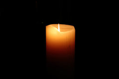 Candle light. Candle in the dark Stock Image