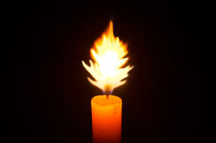 Candle light in the dark Royalty Free Stock Photo