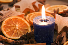 Candle Light with Decoration Royalty Free Stock Photography