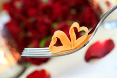 Candle light dinner stock images