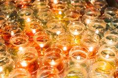 Candle light in glass Royalty Free Stock Photography