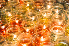 Candle light in glass Stock Image