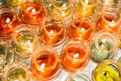 Candle light in glass Royalty Free Stock Image