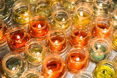 Candle light in glass Stock Images