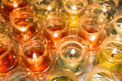 Candle light in glass Stock Photography