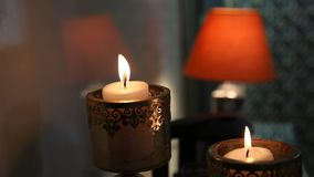 Candle Light at the Home stock video footage