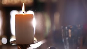 Candle Light at the Home stock footage