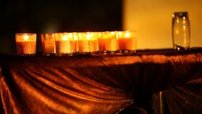 Candle Light at Home Night stock video