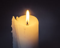 Candle Light On Background Royalty Free Stock Photography
