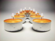Candle light reflection 2 Stock Photography
