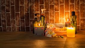 Candle light Of Spa Health Massage stock photography