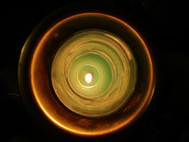 Candle light. Top view of candle indoors Stock Photos