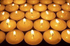 Candle lighting 1 Stock Photos