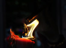 Candle lighting Stock Images