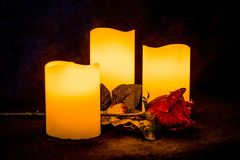 Candle, Lighting, Still Life Photography, Wax Stock Image