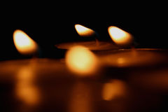Candle lights. Beautiful candle lights while praying Royalty Free Stock Photography