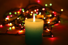 Candle with lights Stock Photo