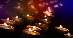 Candle lights. We cannot deny the power of light Stock Photo