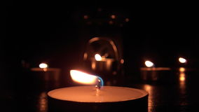 Candle Lights 02 stock video footage