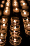 Candle lights with blurry background Stock Photography