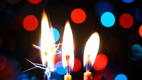 Candle lights stock video footage