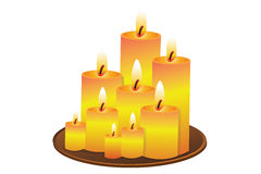 Candle-Lights Stock Photography