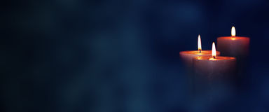 Free Candle Lights In The Darkness Royalty Free Stock Image - 96575766