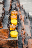 Candle lights, India. Burning candles for best wishes Royalty Free Stock Photos