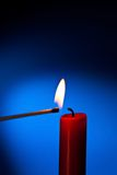 Candle is lit Royalty Free Stock Image