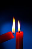 Candle is lit Stock Photography