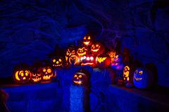 Candle Lit Halloween Pumpkins Royalty Free Stock Image