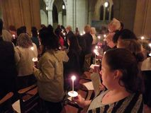Candle Lit Prayer to Stop Gun Violence at the National Cathedral royalty free stock photos