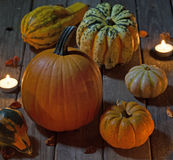 Candle Lit Pumpkin Royalty Free Stock Photography
