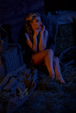 Candle lit pin-up farm girl Stock Images