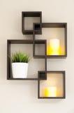 Candle Lit Shelf Stock Photography