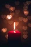 Candle of love Stock Photos